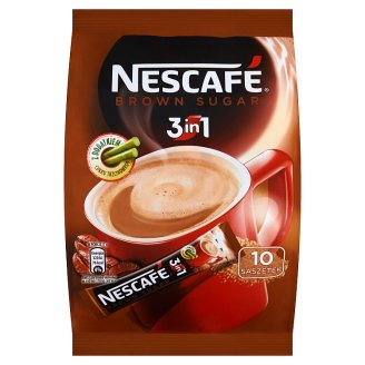 Nescafé 3in1 Soluble Coffee Beverage with Brown Sugar 170 g (10 Pieces)