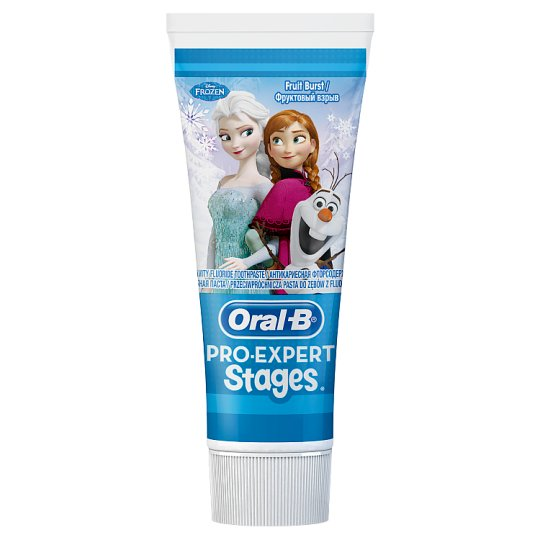 Oral-B Pro-Expert Stages pasta do zębów 75 ml z postaciami z bajki 'Kraina lodu'