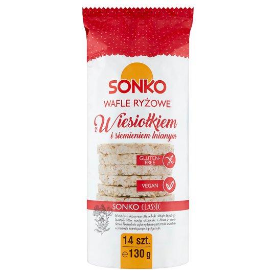 Sonko Wafle ryżowe z wiesiołkiem i siemieniem lnianym 130 g