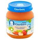 Gerber Jabłka z marchewką i winogronami po 4 miesiącu 125 g