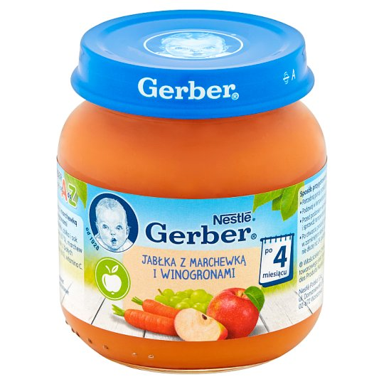 Gerber Apple with Carrot and Grapes after 4 Months Onwards 125 g