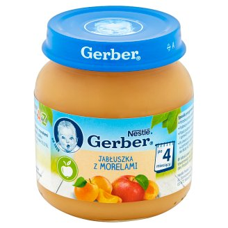 Gerber Apples with Apricots after 4 Months Onwards 125 g