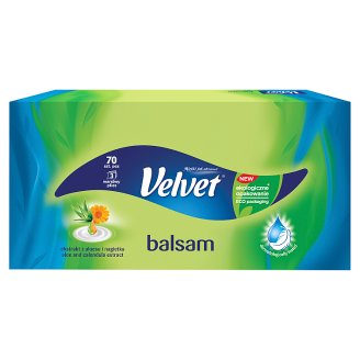 Velvet Balsam Aloe and Marigold Extract Tissues 70 Pieces
