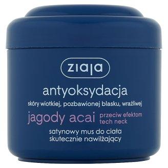 Ziaja Jagody acai Satynowy mus do ciała skutecznie nawilżający 200 ml