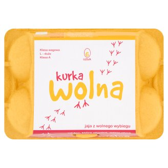 Kurka Wolna Free-Range Eggs L 6 Pieces