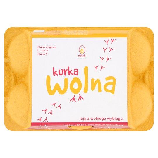 Kurka Wolna Jaja z wolnego wybiegu kl. L 6 sztuk