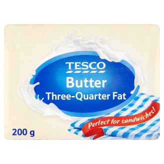 Tesco Three-Quarter Fat Butter 200 g