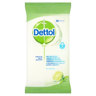 Dettol Lime with Mint Fragrance Antibacterial Surface Wipes 36 Pieces