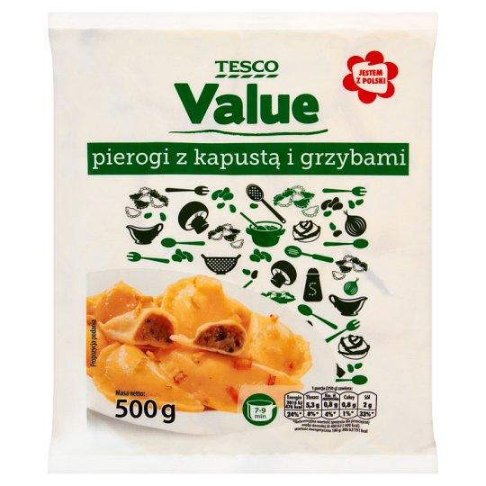 Tesco Value Pierogi z kapustą i grzybami 500 g