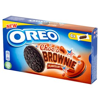 Oreo Cocoa Brownie Flavoured Sandwich Biscuits 176 g (4 Sachets)