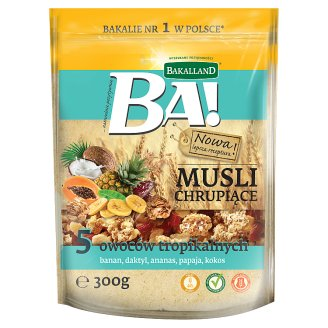 Bakalland Ba! 5 Tropical Fruits Crunchy Muesli 300 g