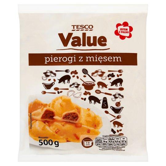 Tesco Value Pierogi z mięsem 500 g