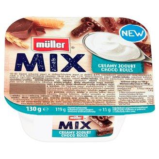 Müller Mix Choco Rolls Creamy Yoghurt 130 g