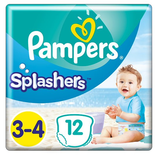 Pampers Splashers Size 3, 12 Disposable Swim Pants