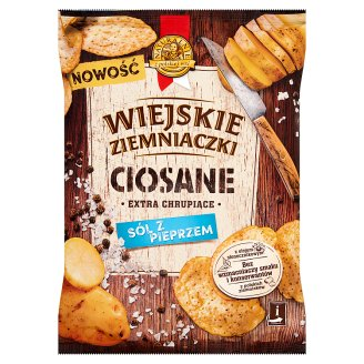 Wiejskie Ziemniaczki Ciosane Salt and Pepper Flavour Potato Crisps 110 g