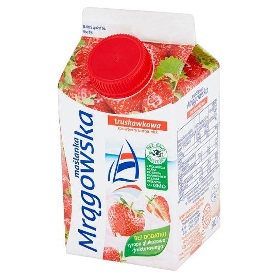 Mlekpol Strawberry Mrągowska Buttermilk 500 ml