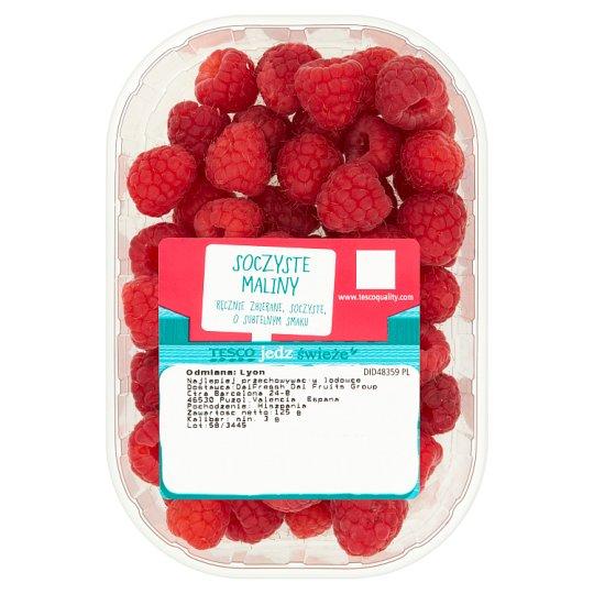 Tesco Juicy Raspberries 125 g