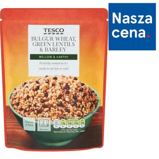 Tesco Mieszanka pszenicy bulgur soczewicy zielonej i kaszy jęczmiennej 250 g