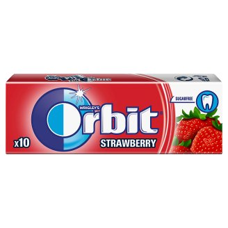 Orbit Strawberry Guma do żucia bez cukru 14 g (10 drażetek)