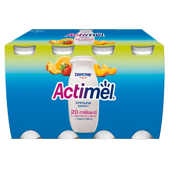 Danone Actimel Multifruit Fermented Milk 800 g (8 Pieces)