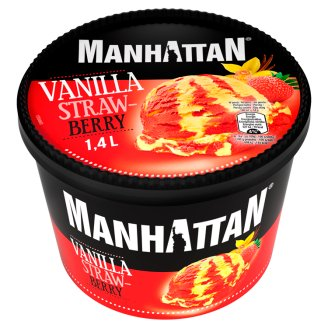 Manhattan Classic Vanilla Strawberry Ice Cream 1.4 L