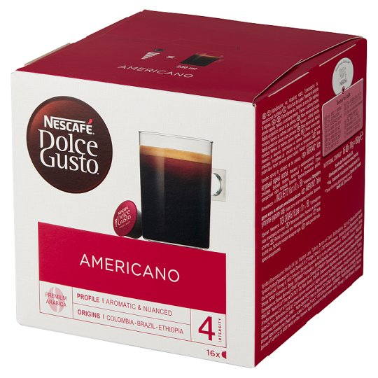 Nescafé Dolce Gusto Americano Kawa w kapsułkach 160 g (16 sztuk)