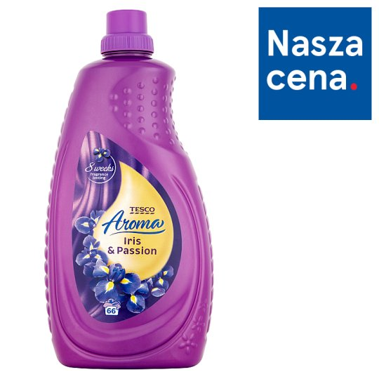 Tesco Aroma Iris & Passion Płyn do płukania tkanin 2 l (66 prań)