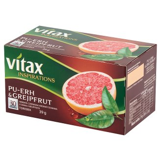 Vitax Inspirations Pu-Erh and Grejpfrut Herbata czerwona owocowa 39 g (30 torebek)