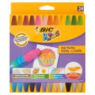 BiC Kids Hexagonal Oil Pastels 24 Colours