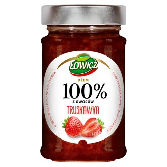 Łowicz Strawberry 100% Fruits Jam 220 g