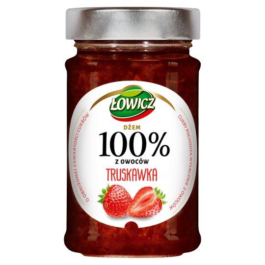 Łowicz Strawberry 100% Fruits Jam 220 g