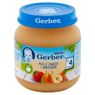 Gerber Apples and Pears Mousse after 4 Months Onwards 125 g