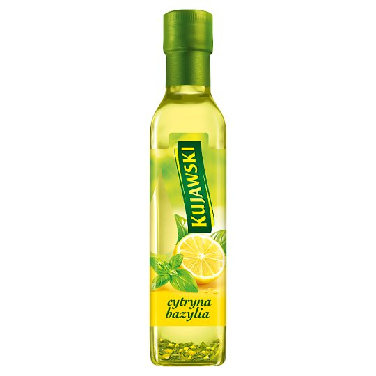 Kujawski Extra Virgin Rapeseed Oil with Lemon and Basil 250 ml