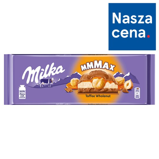 Milka Mmmax Toffee Wholenut Chocolate 300 g