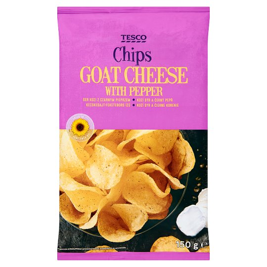 Tesco Goat Cheese with Pepper Chips 150 g