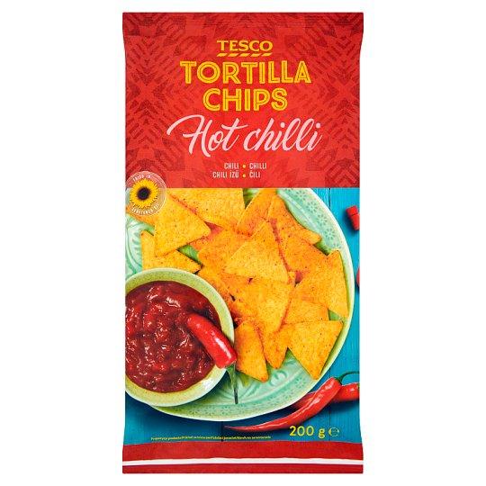 Tesco Tortilla Chipsy kukurydziane chilli 200 g