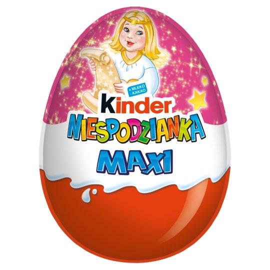 Kinder Różowa Niespodzianka Maxi Słodkie jajko z niespodzianką pokryte czekoladą mleczną 100 g