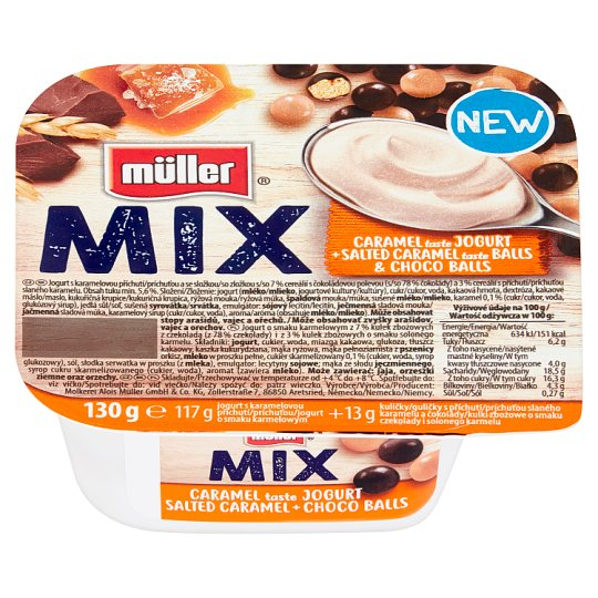 Müller Mix Caramel Yoghurt with Salted Caramel & Choco Balls 130 g