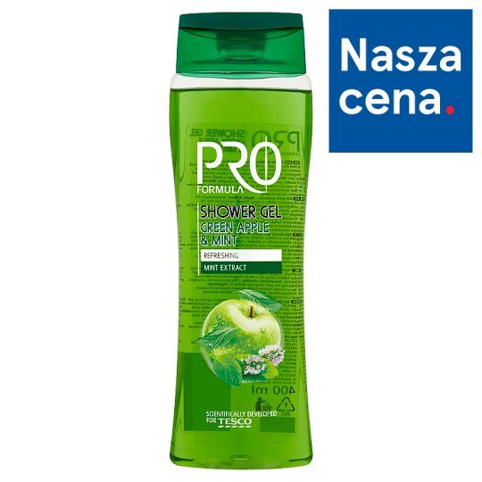Tesco Pro Formula Apple & Mint Shower Gel 400 ml