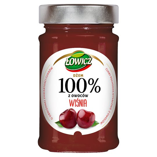 Łowicz Cherry 100% Fruits Jam 220 g