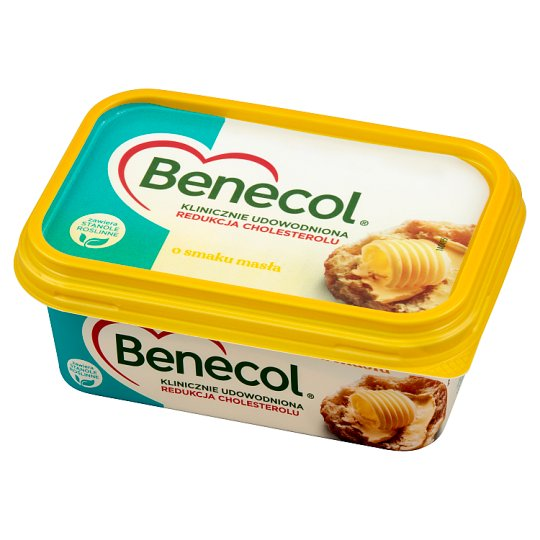 Benecol Tłuszcz do smarowania z dodatkiem stanoli roślinnych o smaku masła 225 g