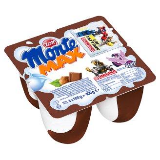 Zott Monte Max Milk Dessert 400 g (4 Pieces)