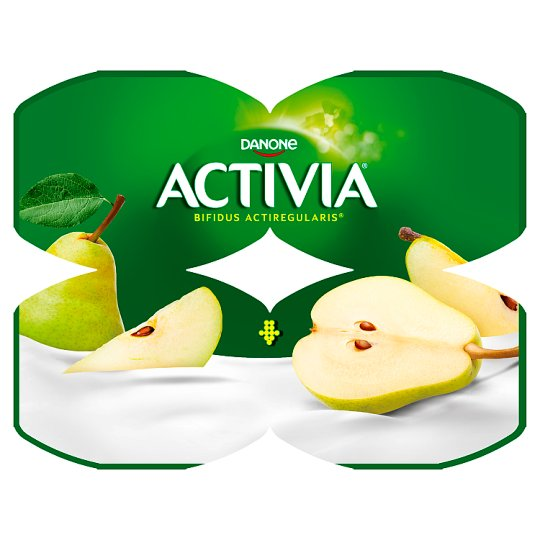 Danone Activia Pear Yoghurt 480 g (4 x 120 g)