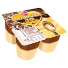 Zott Serduszko Vanilla Flavour with Chocolate Flavour Sauce Delicious Pudding 500 g (4 Pieces)