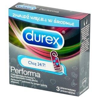 Durex Performa Chcę 24/7! Prezerwatywy 3 sztuki