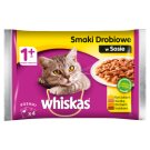 Whiskas 1+ Years Chicken Flavors in Sauce Complete Cat Food 400 g (4 x 100 g)