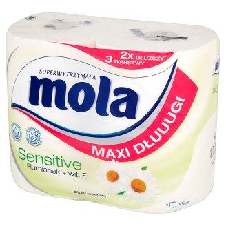 Mola Maxi Dłuuugi Sensitive Camomile + Vit. E Toilet Paper 4 Rolls