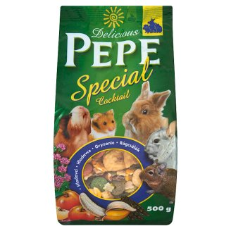 Delicious Pepe Special Cocktail Uzupełniająca karma dla gryzoni 500 g