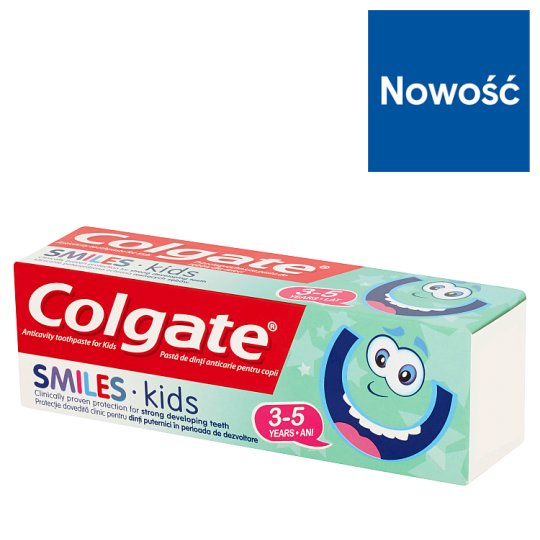 Colgate Smiles Kids Anticavity Toothpaste for Kids 3-5 Years 50 ml