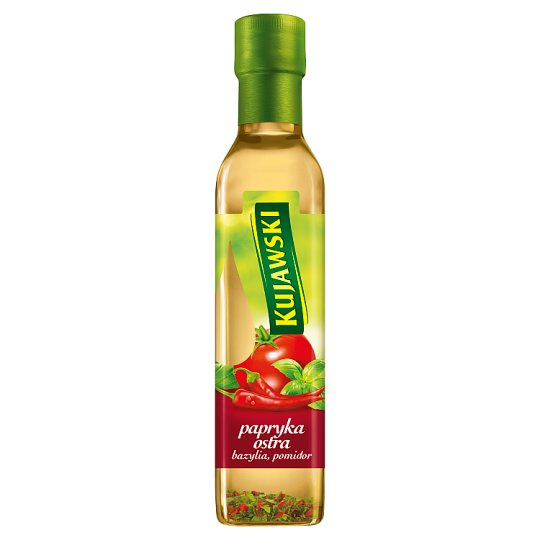 Kujawski Extra Virgin Rapeseed Oil with Hot Pepper Tomatoes and Basil 250 ml